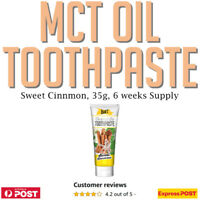 The Dirt MCT Oil Toothpaste Sweet Cinnamon 35g  No Fluoride Bentonite AU Onnit