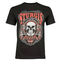 Sturgis Harley-Davidson Men's Sturgis Skull Black Short Sleeve T-Shirt