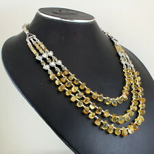 Necklace Natural Citrine Gemstone Beads Jewelry Handmade Semi precious Stones