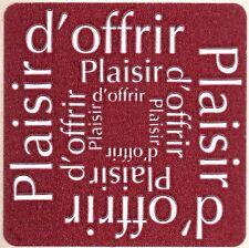 12 Etiquettes stickers 'PLAISIR D'OFFRIR' Coloris Bordeaux - Ref ROC5