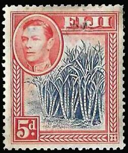 Fiji SC 123 * Sugar Cane with King George VI * Unused/Damage * 1938