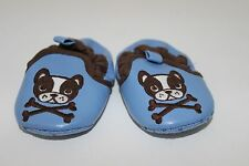 Old Navy Infant Baby Boy Blue Crib Shoes Size 2 fits 3-6 months~Puppy Dog design