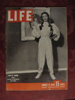 LIFE August 12 1946 Loretta Young Frank Lloyd Wright Razor's Edge Butterflies