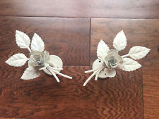 Chic White Rose Curtain Holders Decor