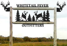 WHITETAIL DEER TAXIDERY SIGN - HUNTING - ARCHERY - CLINGERMANS LOG SIGNS