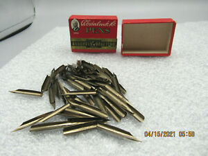 Vintage R. Esterbrook Co Assorted Drafting Nibs 132+ Brand New In Nice Box