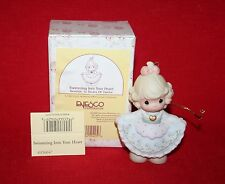 "Precious Moments Ornament #456047 ""Swimming Into Your Heart"" 7th In Series W/Box"
