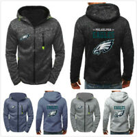 Philadelphia Eagles Football Hoodie Mens Sweatshirt Football Hooded Jacket Coat