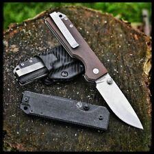 Couteau Tactical StatGear Ausus Brown Lame Acier D2 Manche Micarta STAT109