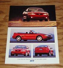 Original 1997 Ford Mustang SVT Cobra Fact Sales Sheet Brochure 97