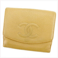 Chanel Wallet Purse Folding wallet COCO Beige Woman unisex Authentic Used T302