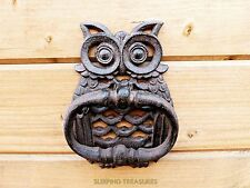 OWL DOOR KNOCKER, TRADITIONAL VINTAGE STYLE , GREAT CHARACTER, CAST IRON