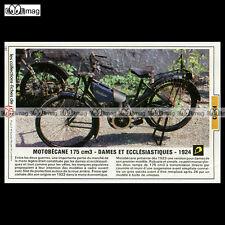 #TP Fiche Moto MOTOBECANE 175 cc DAMES & ECCLESIASTIQUES 1924 Classic Motorcycle