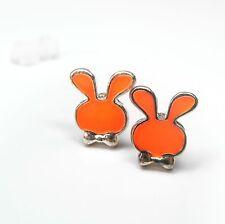 Neu OHRSTECKER Hasen HASE orange/goldfarben OHRRINGE Häschen TIERE Rabbit