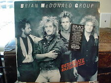 BRIAN McDONALD GROUP - DESPERATE BUSINESS - LP AOR GOLD STAMP PROMO VG+   VG