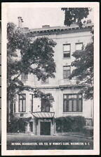 WASHINGTON DC National HQ General Federation Of Women's Clubs GFWC Vtg Postcard