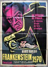 FRANKENSTEIN 1970 Affiche Cinéma / Movie Poster 160x120 Boris Karloff