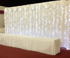 10 x 10 curtain with detachable swag and curtain lights Wedding backdrop