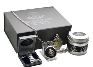 Royal Green Jackets Engraved RGJ Gift Hamper Pocket Watch Army Boot Keyring Set