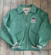 AVIREX Green Leather Varsity 1975 USA  Size L in VGUC