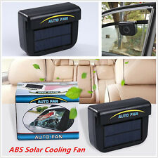 Car Window Windshield Auto Air Vent Cooling Fan System Cooler ABS Solar Powered