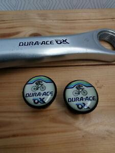 Shimano Dura Ace AX aero black bike Handlebar Plugs end Caps Tapones lenker new