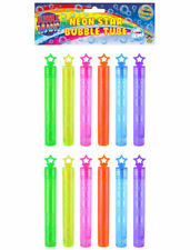 Henbrandt R50093 Neon Bubble Tubes with Star Topper - 12 Pack
