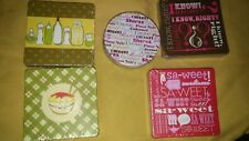 Movie Patterns Paper Coasters 16 Total NWT. 4x4 square with 8 each pack