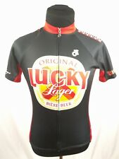 Champion System LUCKY LAGER Beer Full Zip Bike Bicycle Race Jersey Sz XS