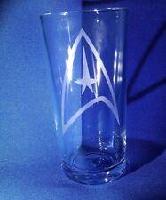 COMANDO flotta stellare Divisione BADGE inciso su una mezza pinta di vetro
