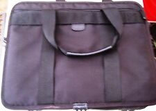 "Targus Laptop 16"" Black Messenger/Shoulder Bag. Adjustable Strap. Leather trim"