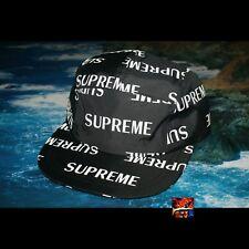 Supreme Reflective Repeat Taped Seam Camp Cap - Black DEADSTOCK