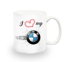 I Love My BMW Car Lover Mug Present Birthday Cup Coffee Tea Gift