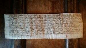 1600'S ?  EARLY VELLUM MANUSCRIPT - NOT RESEARCHED