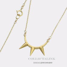 """Authentic Dogeared GD Dare to Curved Bar Spike Necklace 18"""" D1GG200100400"""