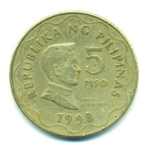 Philippines 5 piso 1998 Combined Shipping