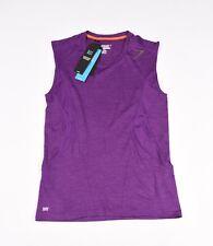Gymshark Apex Deep Purple Burnt Orange Men Sleeveless Workout T-Shirt Sz M, NEW
