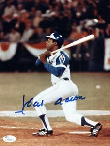 Hank Aaron Atlanta Braves Autographed 8.5 X 11  Glossy Photo W/JSA Certification