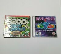 Bejeweled 2 Deluxe & 5200+ Great Games PC CD-Rom Video Game Lot Tested Very Good