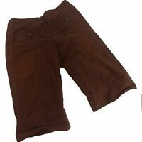 Anthropologie Womens Shorts Brown Size 6 Ett Twa Bermuda Skimmer Stretch