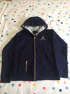 Boy's Nike Air Jordan Hoodie Gold Zips/Logo XL/13-15 Years Excellent Condition