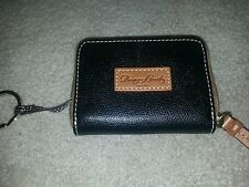 Dooney &Bourke Keychain Purse New With Change Purse Black All Leather