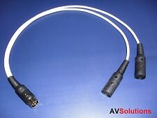 """y"" adaptor/splitter para Bang & Olufsen B&O Beolab Powerlink Mk2 (2 Metros, Blanco)"
