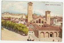 Künstlerkarte Milano, Mailand, Basilica di S. Ambrogio, 1920 nach Hamburg