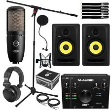 Home Recording Pack M-Audio Air 912 Interface, Mic, Headphones & Cl5G3 Speakers