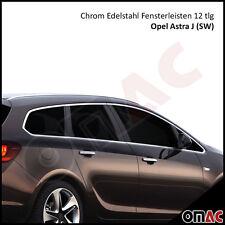 Opel Astra J Sports Tourer SW Chrom Edelstahl Fensterrahmen Fensterleisten 12tlg
