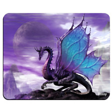 Purple Dragon Moon Mouse Pad, Customized Rectangle Mousepad