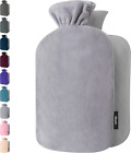 Qomfor Hot Water Bottle with Soft Fleece Cover - 1.8L Large - Classic Premium Ho
