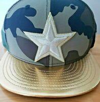 New Era Dallas Cowboys Gold Camo Salute to Service Snapback Hat Cap 9Fifty 950