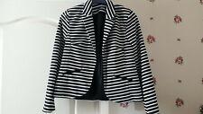 Atmosphere Black & White stripe jacket 14